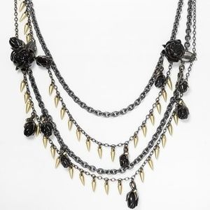NWT Marc by Marc Jacobs Necklace Black Rose Thorns